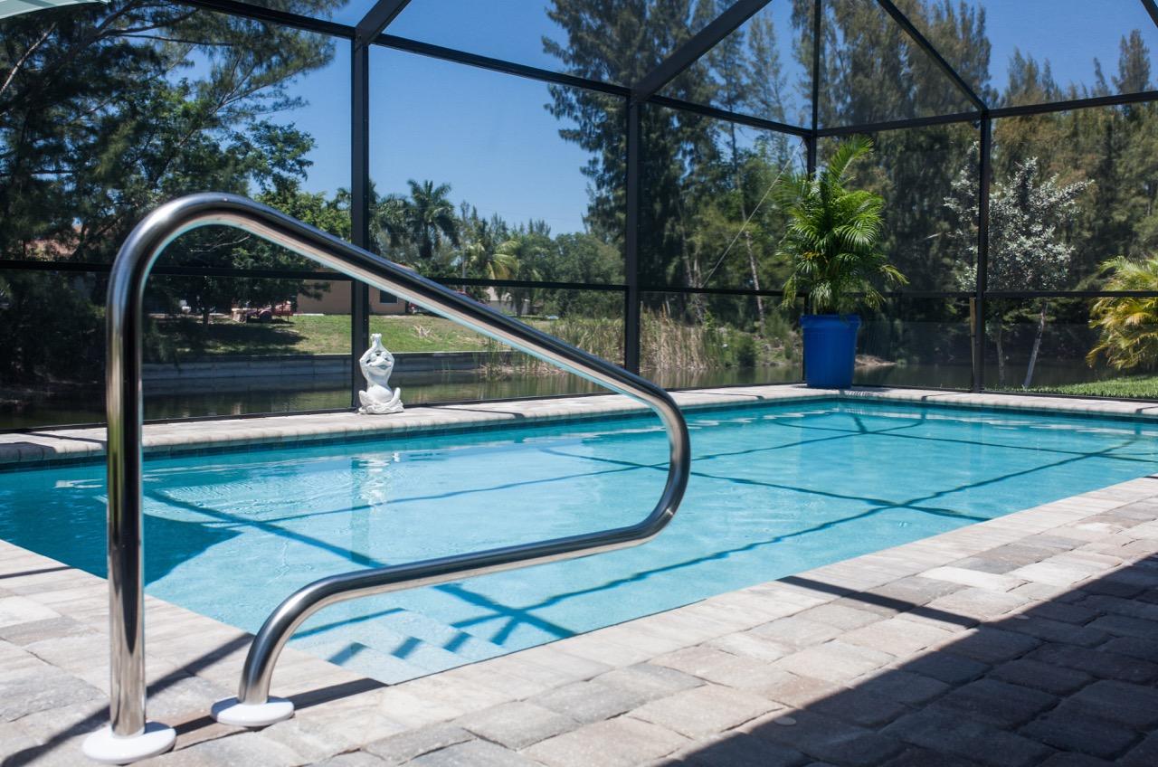 Pool, Ferienhaus
