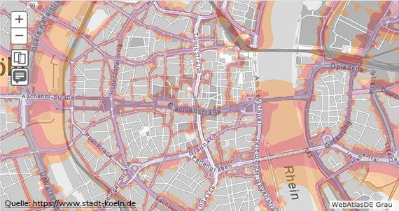 Lärmkarte Köln