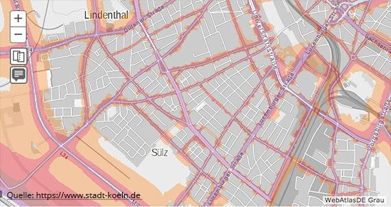 Lärmkarte Köln Sülz - Goost Immobilien