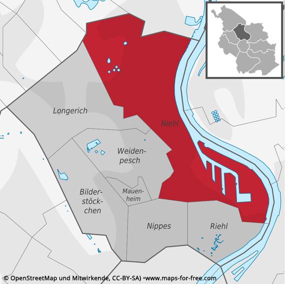 Köln Niehl Karte
