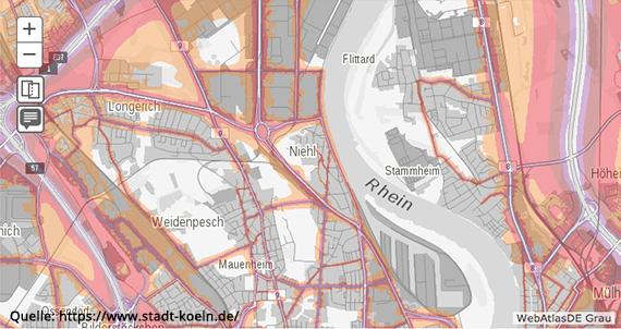 Köln Niehl - Lärmkarte