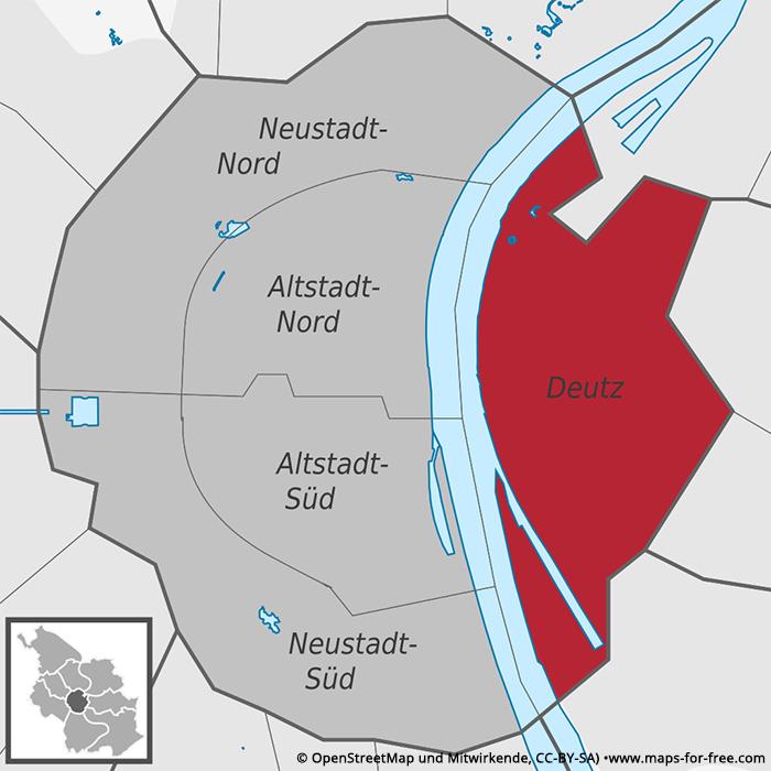 Karte Köln-Deutz