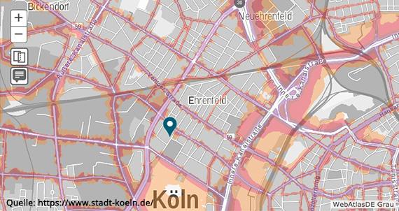 Köln Ehrenfeld - Lärmkarte
