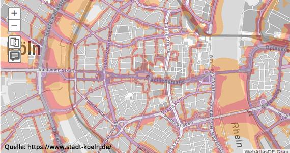 Köln Lärmkarte