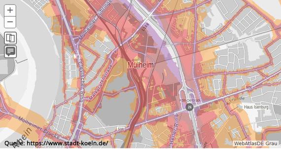 Lärmkarte - Mülheim