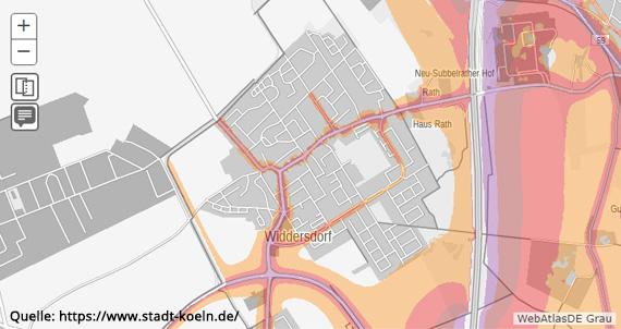 Lärmkarte Widdersdorf