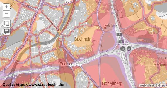 Lärmkarte Köln-Buchheim