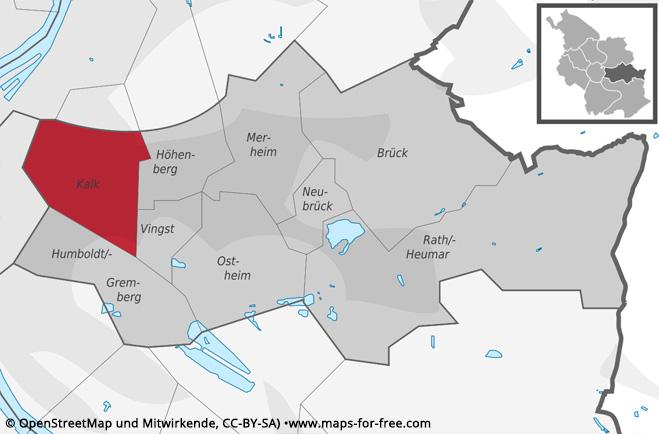 Karte Köln-Kalk