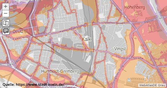 Lärmkarte Köln-Kalk