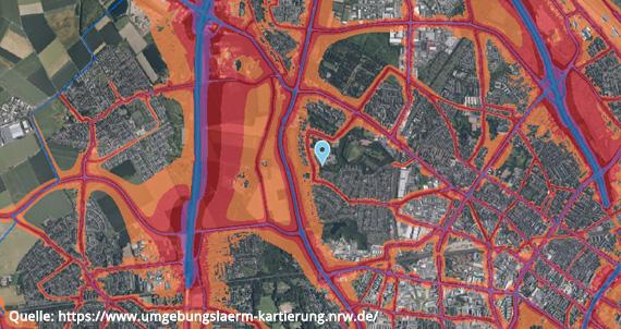 Lärmkarte Köln-Vogelsang